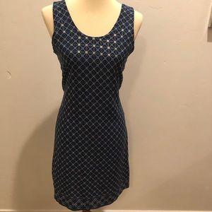 One of a kind Vintage Blue geometric print dress